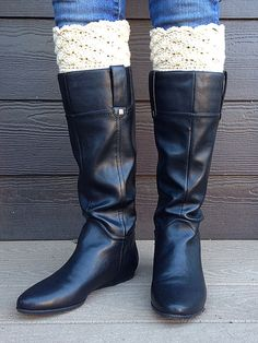 Boot Cuffs / Boot Toppers / Faux Boot Socks by reinhardthome, $15.00