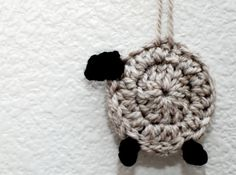 This sheep made by crocheting a circle is great for ornaments, counting toys, or party favors.   Check out the pattern by Pardon my Chaos.