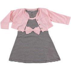 d9e2efa49276 Hudson Baby - Girl Cardigan and Racerback Dress - Walmart.com