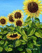 Sunflowers Paintings - Sunflowers by Tanja Ware