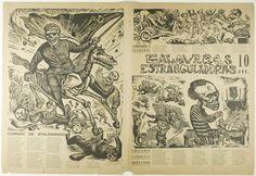 Leopoldo Méndez (Mexican, 1902-1969); Alfredo Zalce (Mexican, 1908-2003) Robert Mallary (American, 1917-1997); published by the Taller de Gráfica Popular (Mexican, founded 1937), Strangling Calaveras