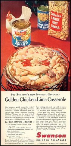 Chicken with lima beans (shudder.)