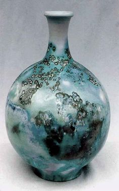 M.Wein Sager fired on  Tealy underglaze and Neptune bead sea weed
