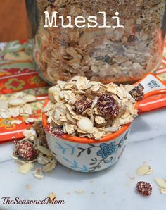 Clean Eating Muesli: this clean breakfast or snack is wholesome, full of fiber, healthy fats, antioxidants, and other filling ingredients that will keep you and your family going without weighing you down.