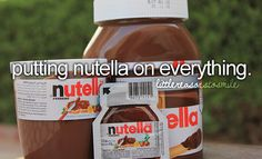 There are few things that aren't enhanced by the addition of Nutella! :) #Nutella #simple_joys