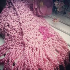 Breast Cancer Awareness Month--The Doris Scarf (Free Pattern - crochet) www.loveofknitting.com/blog/blog/2014/10/10/breast-cancer-awareness-month-or-the-doris-scarf/