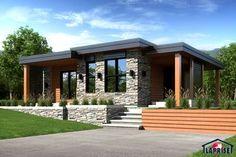 Laprise kit homes Designer, Zen Contemporary Prefab Homes Canada, Modern Prefab Homes, Prefabricated Houses, Roof Design, Exterior Design, Home Interior Design, Bungalow House Design, Modern House Design, Villa