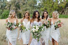 best wedding bouquets 2016 - modern bridesmaid bouquets