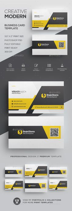 281 best modern business cards images on pinterest in 2018 modern business card template by verazo need more high quality business card view my business card templates collection or save money buy business card fbccfo Choice Image
