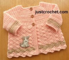 Free baby crochet pattern 0-3 month cardigan usa