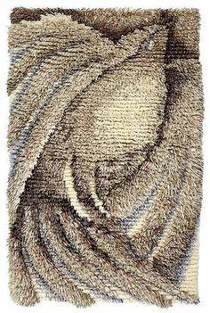 NEITOLINTU 100 - Koko: 80 x 120 cm Suunnittelija: Riitta Latvala-Erkkilä Langat: Ryijylanka, Perinnelanka Nukkapituus: 3, 4, 5 ja 6 cm Ovh. 575,- ja 515,- *** Rya Rug, Diy And Crafts, Weaving, Art Deco, Rugs, Carpets, Fiber, Inspiration, Design