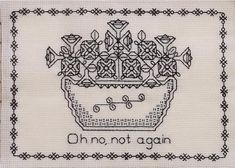 Petunias Blackwork Pattern Hitchhiker's Guide to the Galaxy by TheFinalThread