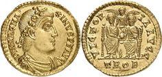 Western Roman Empire AV Solidus ND Treves Mint Magnus Maximus 383-88AD Usurper in West