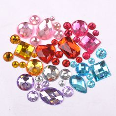 1000pcs Mixed Sizes and Shapes Many Colors Round Resin Loose Flatback Rhinestone Nail Art Crystal Stones For Wedding Decorations-in Rhinestones from Home & Garden on Aliexpress.com | Alibaba Group
