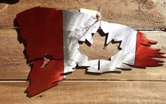 Excited to share this item from my shop: Large Metal Canadian Flag, Canada Day Home Decor, Patriotic Gifts Canada Day Crafts, Cool Things To Build, Small Christmas Gifts, Canadian Things, Celtic Tree Of Life, Cold Rolled, Decks And Porches, Metal Art, Metal Working
