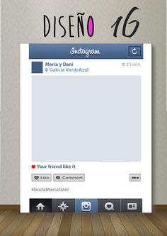 Diseño 16 Instagram!! Diseño Photocall bodas. #backdrop #photobooth #photocall http://photocalls.es/