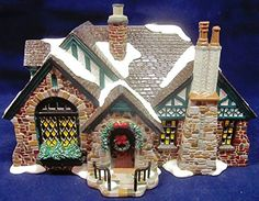 Department 56  American Architecture Series  Snow Village  Tudor House  5655062  Retired -- Want additional info? Click on the image.