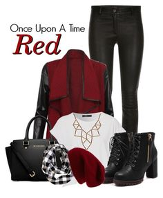 Once Upon A Time: Red Riding Hood by xosakuraxo on Polyvore featuring MICHAEL Michael Kors, Chicnova Fashion and Sole Society