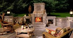 Love outdoor fireplaces.