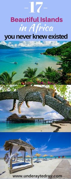 Beautiful islands in africa you need to know about. #travel #africatravel #travelbucketlist