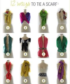 23 Life Hacks Every Girl Should Know - 12 Ways to Tie a Scarf - Life Hacks and Creative Ideas