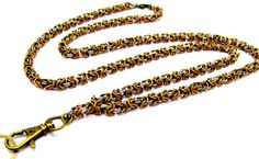 Reduced 25%  Fashion Lanyard  Handcrafted by byBrendaElaine
