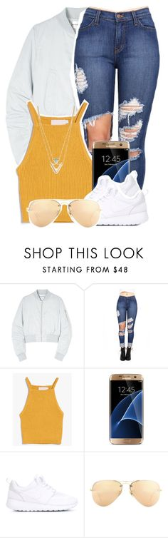 """""""Untitled #1348"""" by queen-tiller ❤ liked on Polyvore featuring Won Hundred, Samsung, NIKE, Ray-Ban and Jules Smith"""
