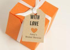 Wedding Favor Tag - Kraft Paper - Wedding Gift Tag, Bridal Shower Favor Tag, Party Favor Tag, Kraft Tag. $11.25, via Etsy.