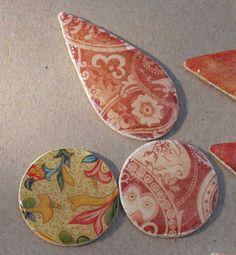 Schmuckteile aus Holzplättchen - Teil I   Bastelfrau