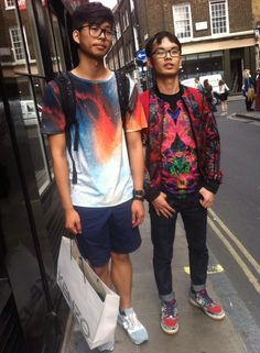 combining colour and prints to create a cool, unique look. makes a huge statement whilst walking down the high street.
