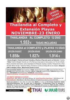 Thailandia al Completo y Ext. Playas Nov-23Enero14 Thai desde 1.553€ Tasas Incluidas - http://zocotours.com/thailandia-al-completo-y-ext-playas-nov-23enero14-thai-desde-1-553e-tasas-incluidas/