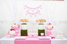 Project Nursery - Love the moss stands with the pie pops!