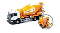 Die-cast metal with plastic parts. Cement Mixers, Metal Casting, Diecast, Trucks, Truck, Cars