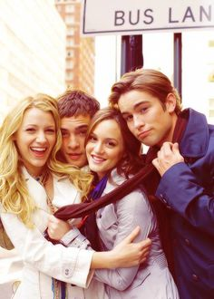 Gossip Girl cast - Blake Lively, Ed Westwick, Leighton Meester, Chace Crawford