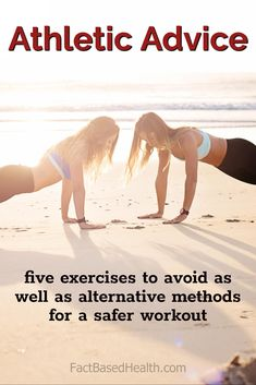 Fitness Advice - five exercises to avoid as well as alternative methods for a safer workout Fitness Diet, Health Fitness, Basal Cell Carcinoma, Printable Workouts, Back Pain Relief, Cancer Treatment, Alternative Medicine, Natural Treatments, How To Get Rid