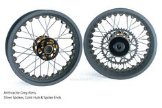Kineo Wheels Anthracite Grey , Gold & Silver