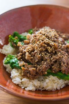 Sesame Beef Bowl recipe