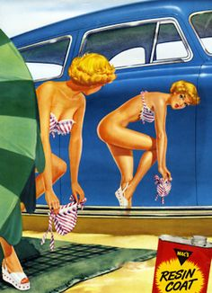 ... Illustration for Mac's car wax c. 1956