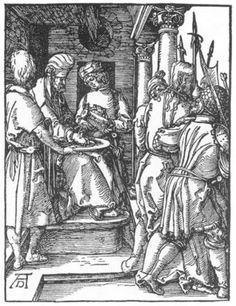 Pilate Washing His Hands by Albrecht Dürer, 1511