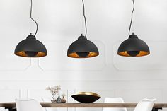 Retro Lampe, Or Noir, Suspension Design, Style Retro, Retro Design, Decoration, Bulb, Ceiling Lights, Interior Design