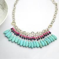 Bold exotic jewelry making project about a piece of vintage-inspired statement necklace; you'll enjoy the hue and pattern definitely. While making your own necklace, nothing but some patience is required!