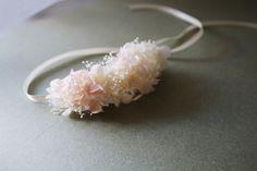 Headband Emilie vraies fleurs stabilisées : Accessoires coiffure par asami-fleur