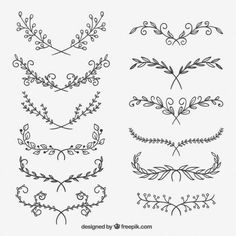 Flower ornaments free vector ornaments # give DIY tattoo – diy best tattoo diy best tattoo – diy best tattoo ideas – floral tattoo sleeve Diy Tattoo, Arm Tattoo Ideas, Wrist Tattoo, Tattoo Arrow, Subtle Tattoos, Cool Tattoos, Tree Tattoos, Tatoos, Skull Tattoos
