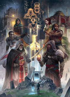 Assassins Creed Revelations Multiplayer by KiniaLara on Character Art, Game Art, Assassins Creed, Fan Art, Templars, Poster