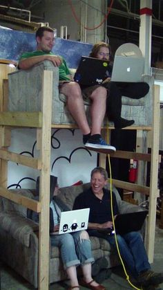 "File under ""Why didn't I think of that?"": bunk couches!"