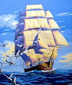 [ New Release, Wooden Framed or Not ] Diy Oil Painting by Numbers, Paint by Number Kits - Smooth Sailing Sailboat inches Linen Canvas - PBN Kit for Adults Girls Kids Christmas New Year Gift Abstract Pictures, Wall Art Pictures, Pictures To Paint, Mosaic Pictures, Boat Painting, Oil Painting On Canvas, Diy Painting, Painting Abstract, Diy Image