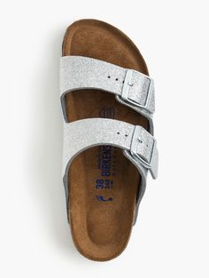 Arizona Birkenstock Sandal in Magic Galaxy (aka silver glitter amazingness)