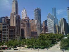 Chicago Skyline from Art Institute Modern Wing