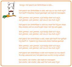 * Versje: Het paard van Sinterklaas is ziek!