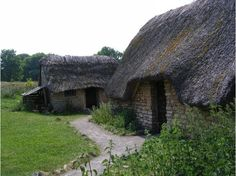 """Cosmeston Medieval Village is a """"living history"""" medieval village near Lavernock in the Vale of Glamorgan not far from Penarth and Cardiff in South Wales, UK 